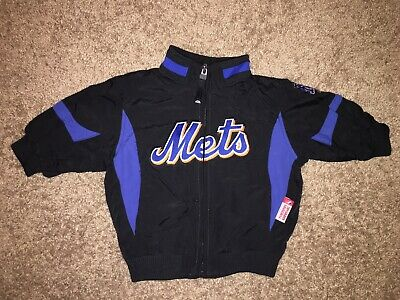 MLB New York Mets Authentic Dugout Majestic Jacket Toddler Size 12 Months