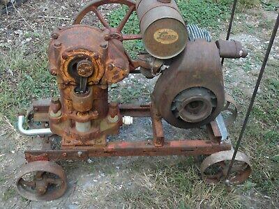 Vintage Lauson Gas Engine  Farquhar Piston Pump Old Motor