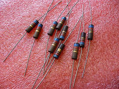 10 Pcs 620 Ohm 1w 5 Vintage Carbon Composition Resistors Audio Amp 65-r