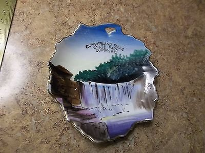 Vintage Hand Painted Saucer Plate Cumberland Falls State Park Ky. Made In Japan
