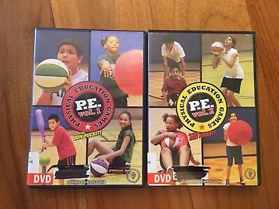 LOT 2 Physical Education Games Vol 1 & 2 Don Puckett Sportvideos.com Gym Ideas