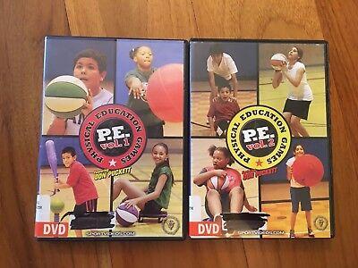 Educational Games Com (LOT 2 Physical Education Games Vol 1 & 2 Don Puckett Sportvideos.com Gym)