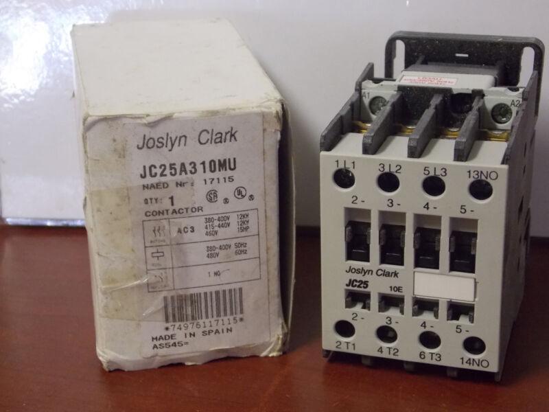 Joslyn Clark 25a 480v Coil Iec Open Contactor Jc25a310m-u