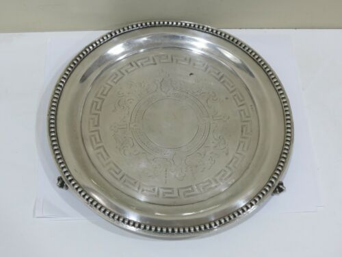 Antique 18th Century Sterling Silver Footed Salver Tray