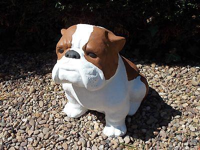 Large Bulldog concrete garden ornament