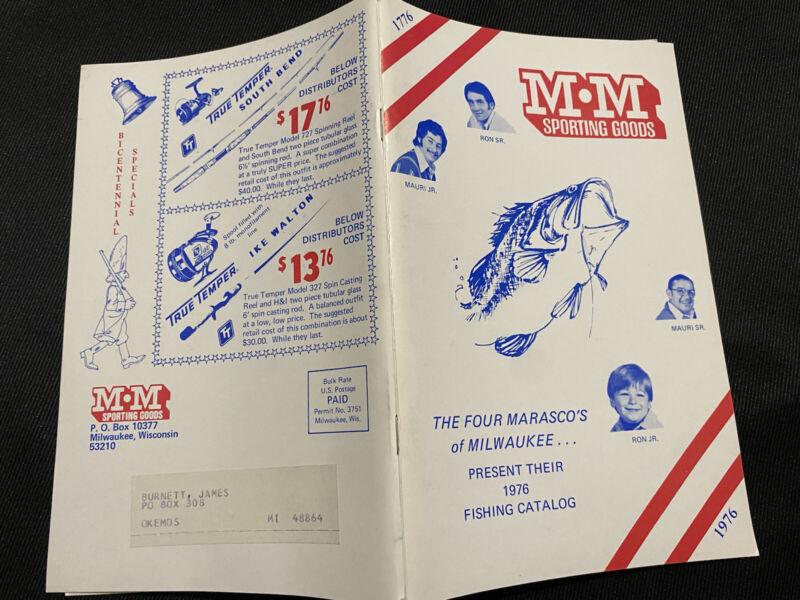 vtg 1976 M M spirting goods catalog Marasco of milwaukee fishing catalog