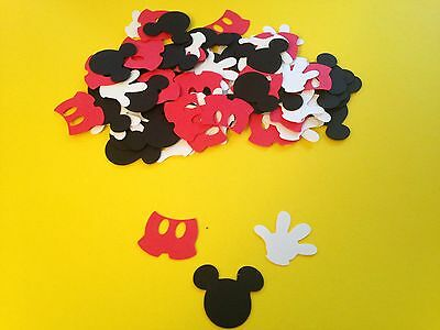 100 Mickey Mouse Glove Pants Die Cut Punch Cutout Confetti Embellishment - Mickey Mouse Cut Out