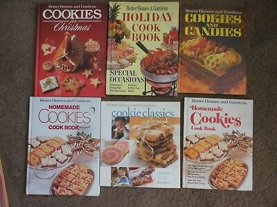 6 VTG BETTER HOMES AND GARDENS COOKIE COOKBOOKS, CHRISTMAS, HOLIDAYS, CLASSICS ()