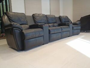Gascoigne Leather 4 Seat Home Theatre Lounge Berwick Casey Area Preview