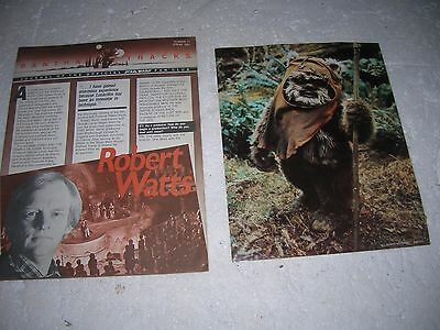 BANTHA TRACKS STAR WARS FAN CLUB 1984 #24 EWOK POSTER WICKET LUCAS FILMS