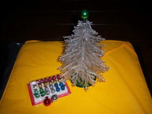 "VINTAGE  NICE PLASCO Columbia 10"" PLASTIC CHRISTMAS TREE WITH ORIGINAL BOX"