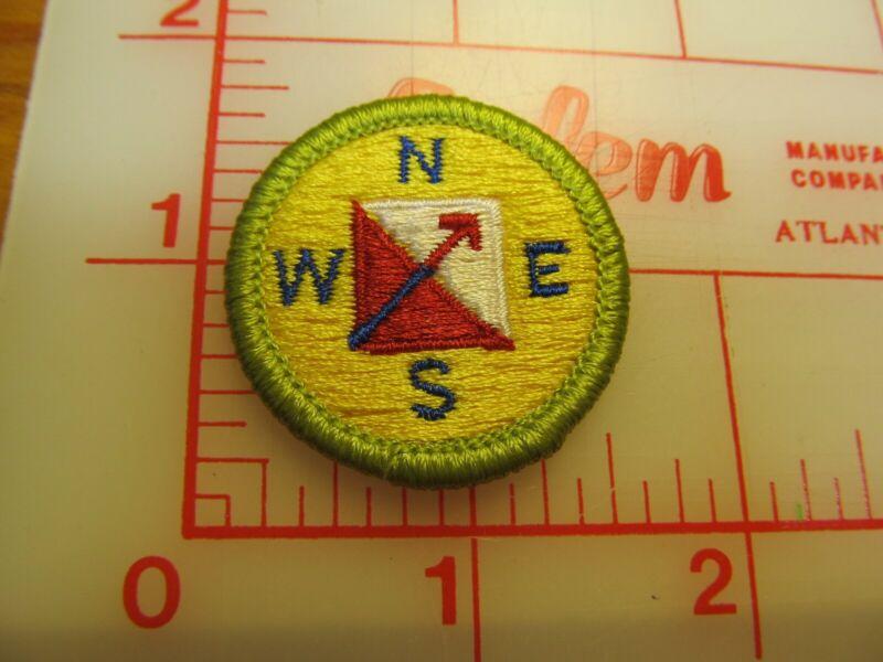 ORIENTEERING merit badge plastic backed patch (oP)