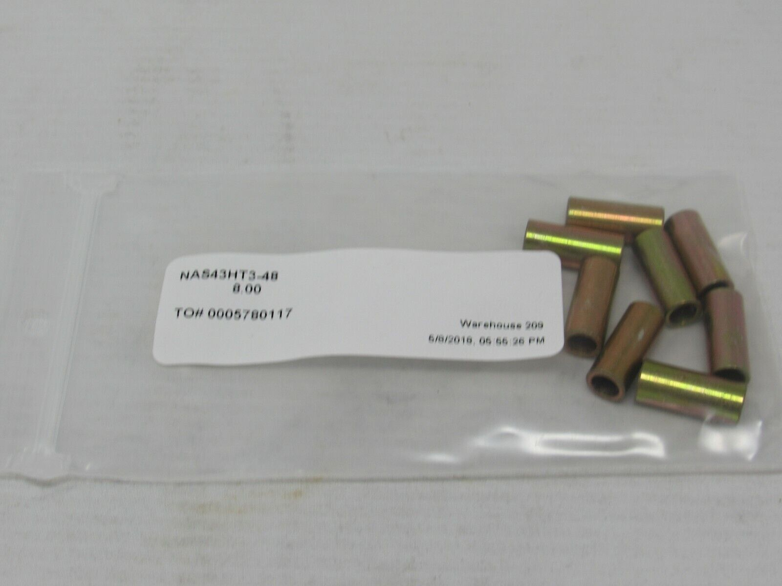 Spacer Sleeve, Lot of 8 #NAS43HT3-48