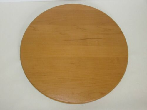 """Longaberger 11"""" Round Woodcrafts Shelf Only For Large Wrought Iron Snowman or Um"""