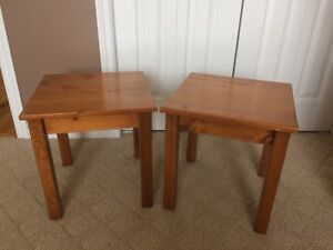 Chair side tables x2