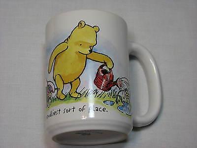 Winnie the Pooh Tigger Piglet Garden LARGE Disney Store Ceramic Coffee Mug Cup