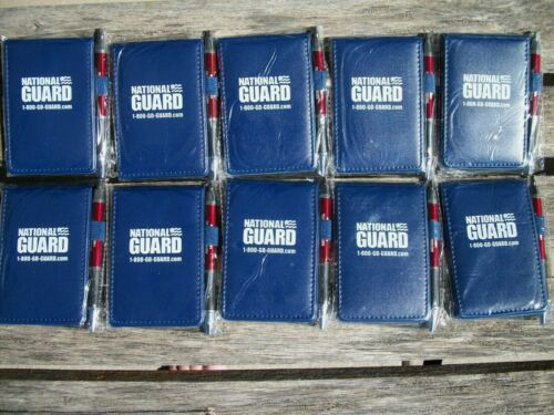 Lot of 10 ~ New Sealed National Guard Writing Notebook/pad and Ink Pen Sets