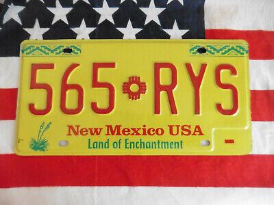 US NEW MEXICO 565 RYS AUTO CAR PLATE KENNZEICHEN NUMMERNSCHILD SCHILD DEKO USA