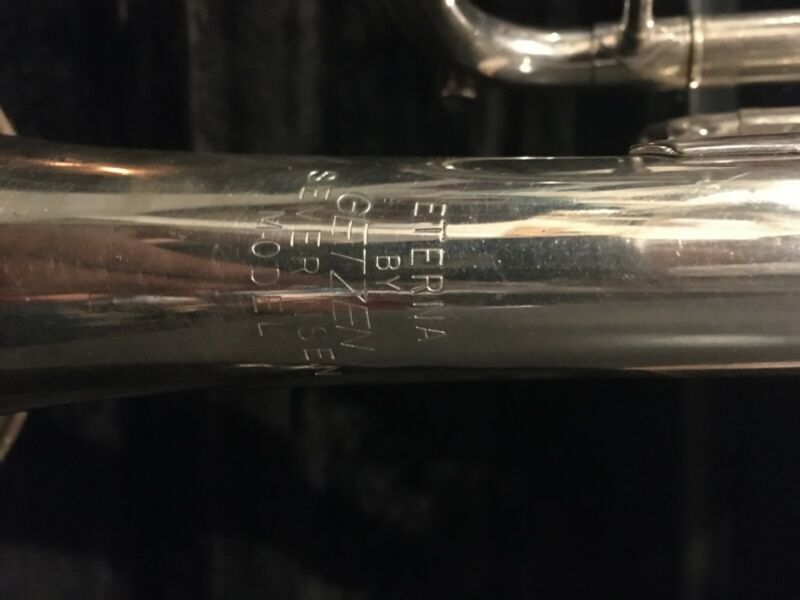 Used silver trumpet by Eterna. Getzen Severinsen model