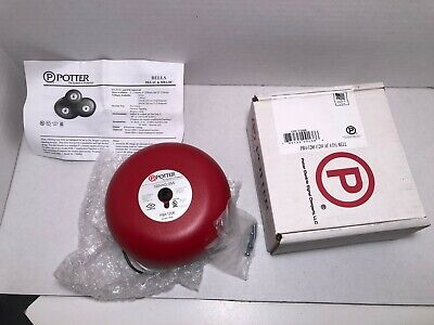 Potter Electric Pba-1206 Vibrating Ac Powered Bell.