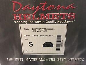 Motorcycle Carbon Helmet D.O.T. Daytona Skull Cap w/o Visor