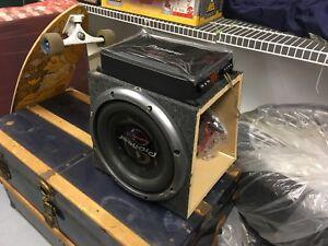 "Pioneer TS-W3001D2 12"" Subwoofer, Pioneer GM-D9601 Amplificateur"
