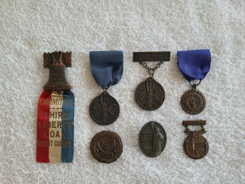Vintage Boy Scouts of America World War Liberty Loan Medal Collection