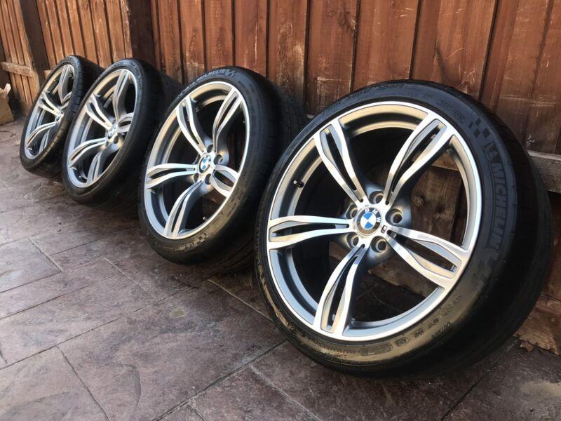 Genuine Bmw X5 M Performance Double Spoke 20 Staggered Wheels