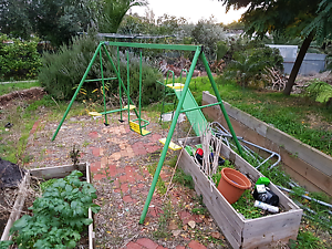 Outdoor swing set with slide Ridgehaven Tea Tree Gully Area Preview