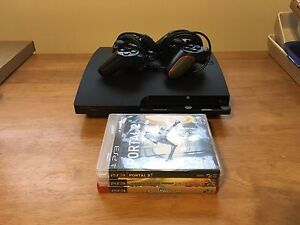 120GB PS3 Slim, controllers, games