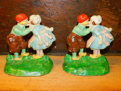Vintage Bookends Coin Banks Kids Bookends Boy and Girl Money Bank Ceramic Childrens Bookends Made in Japan