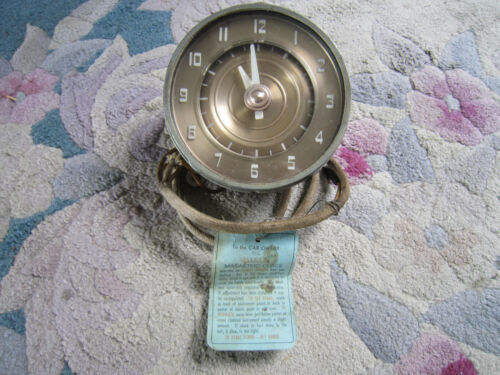 Jaeger Watch Co. NY Magnetric Automobile Dash Car Clock With Original Tag WOW!