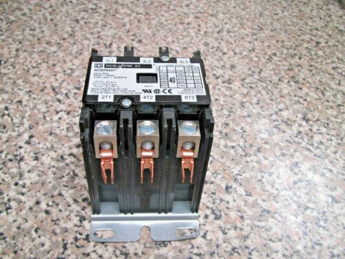 Square D 8910DPA43V1 40A FLA 3PH 3P Open Type Definite Purpose Contactor Used