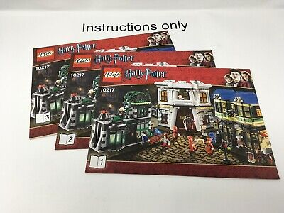 ONLY instructions Books 1-3 Lego 10217 Harry Potter Diagon Alley no bricks/parts