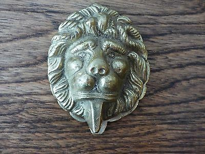 COLLECTABLE ARCHITECTURAL ANTIQUE LIONS HEAD SOLID BRASS DOOR KNOCKER FREE UK PP