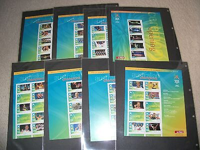 Australia 2006 games m/s scarce set of 17 sheets mnh