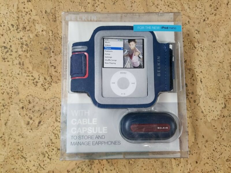 Belkin Sport Armband Plus Case For iPod Nano 3G Blue 3rd Generation Extra Case
