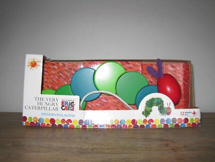 The very Hungry Caterpillar Wooden Pull along toy Frenchs Forest Warringah Area Preview