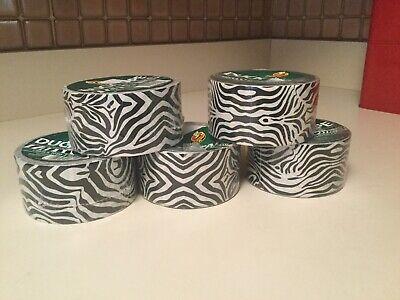 Lot 5 Duck Brand Zebra Animal Printed Duct Tape 1.88 X 10 Yards Brand New Sealed