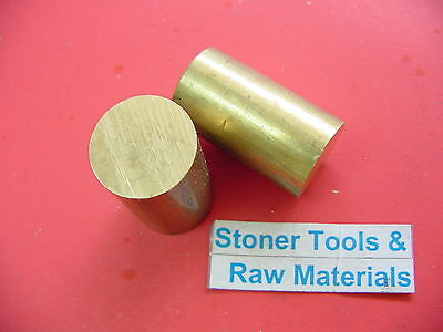 2 Pieces 1-12 Brass C360 Solid Round Rod 2 Long Lathe Bar Stock 1.50 Od H02