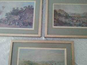 THREE ANTIQUE CHINESE PRINTS Peregian Beach Noosa Area Preview