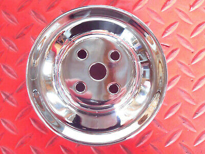WATER PUMP PULLEY FORD SMALL BLOCK CHROME SINGLE 1 GROOVE V BELT SBF 289 302 351 Ford Water Pump Pulley