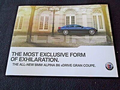 2015 BMW ALPINA B6 xDrive Gran Coupe Sales Catalog 540hp US 6 Series Brochure