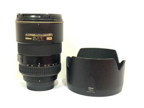 Very Good Nikon Zoom-NIKKOR 17-55mm f/2.8 ED AF-S M/A DX Lens