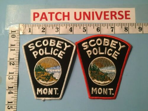 LOT OF TWO DIFFERENT SCOBEY MONTANA  SHOULDER PATCHES  J075