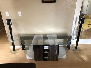 TV Stand and Sony Speakers