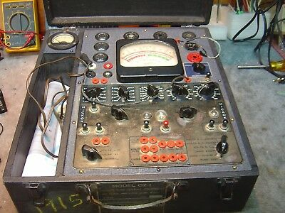 Hickok Oz-1 550x Tube Tester--military Rare