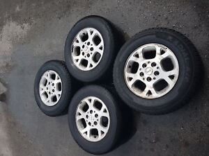 4 16in used winter tires and rims.