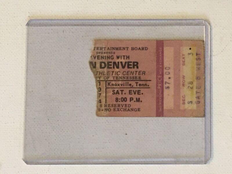 John Denver 1974 Concert Ticket Stub Rocky Mountain High