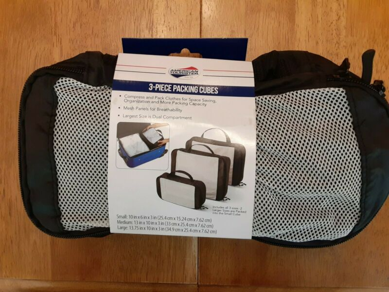 American Tourister 3-Piece Packing Cubes (NEW)